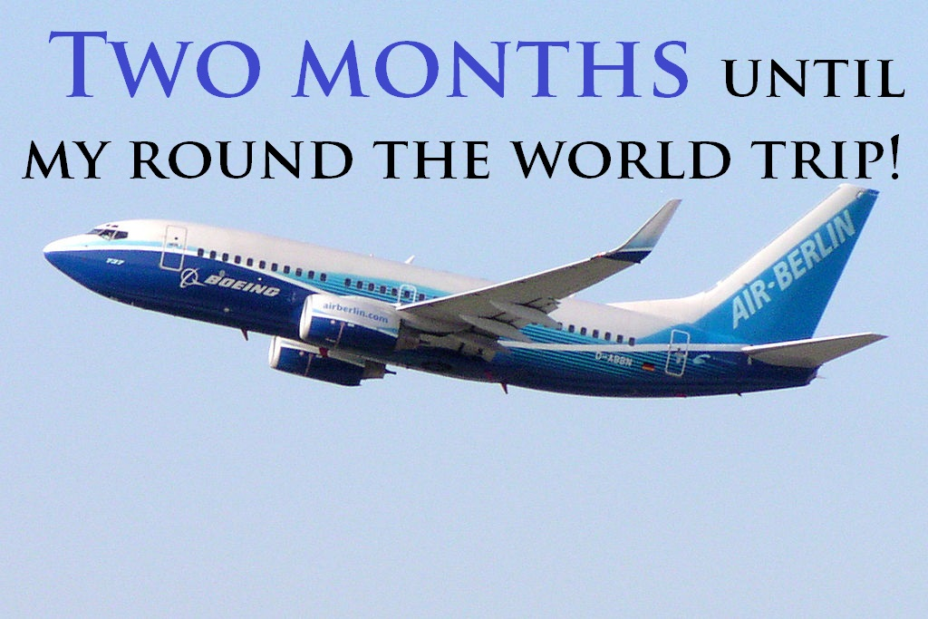 Two months until my round the world trip commences!