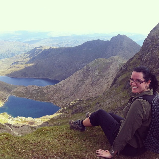Having my own 'wild' moment when climbing Snowdon in Wales.