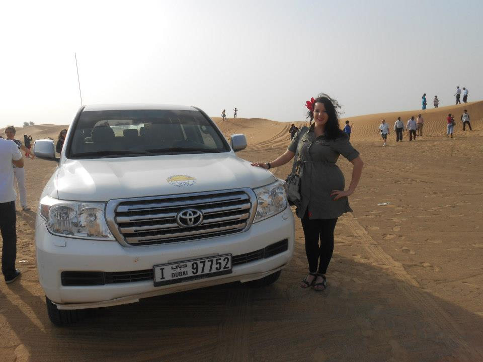 Before my desert safari in Dubai