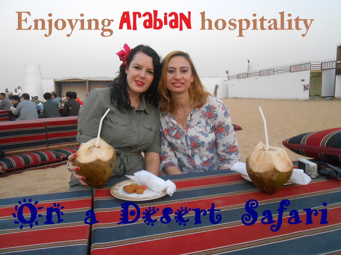 Enjoying Arabian hospitality on a Desert Safari