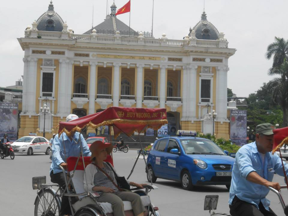 The bustling streets of Hanoi