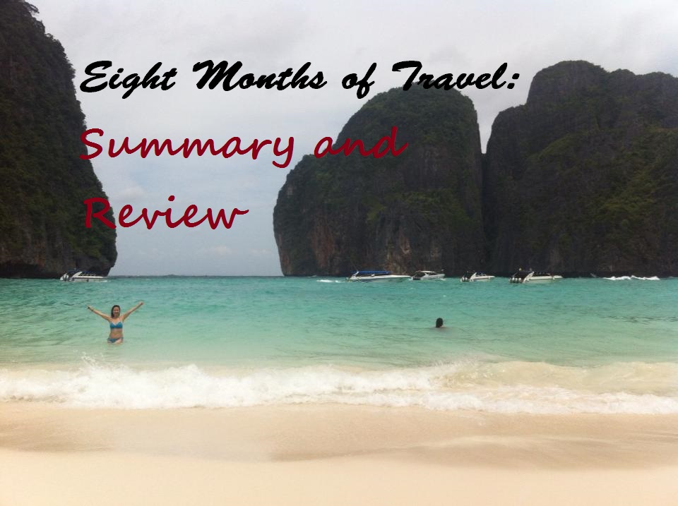 Eight months of Travel: Summary and review