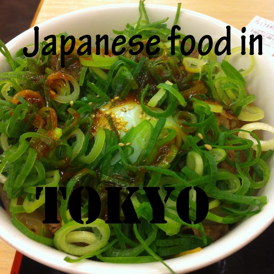 Trying Japanese food in Tokyo