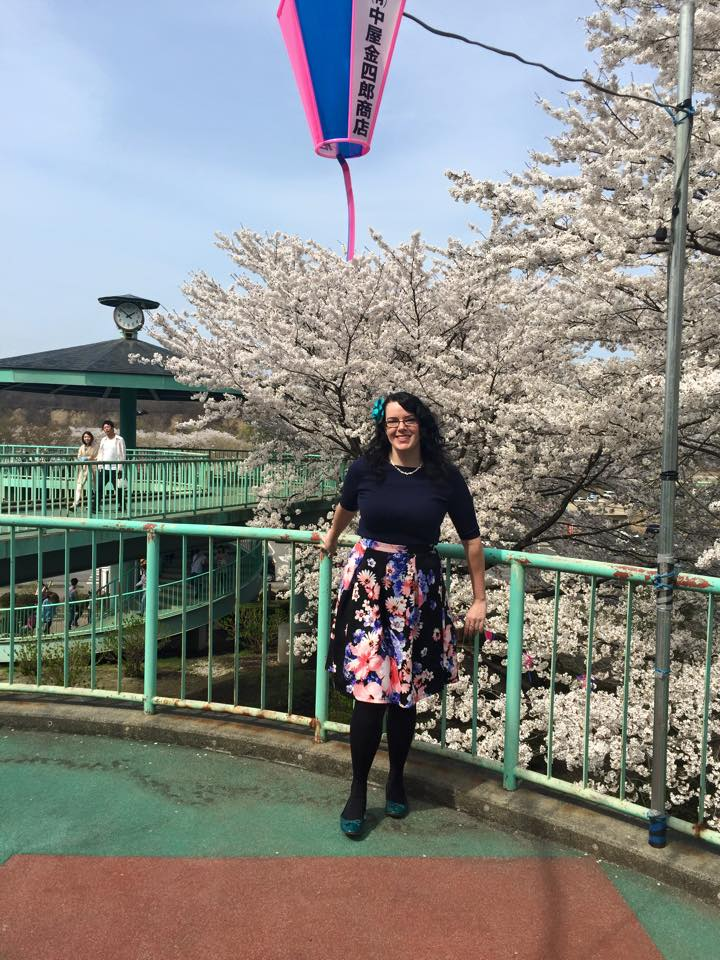 Enjoying the sakura in Nasushiobara