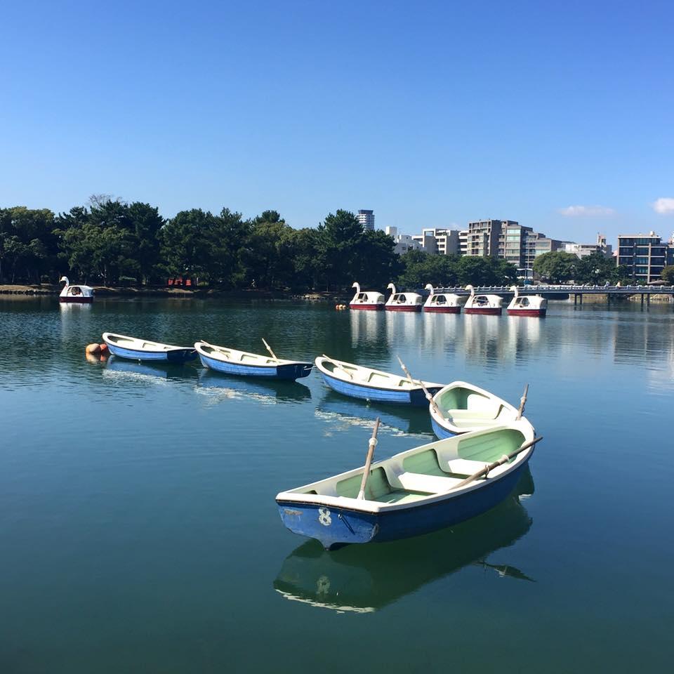 Lake in the centre of Fukuoka