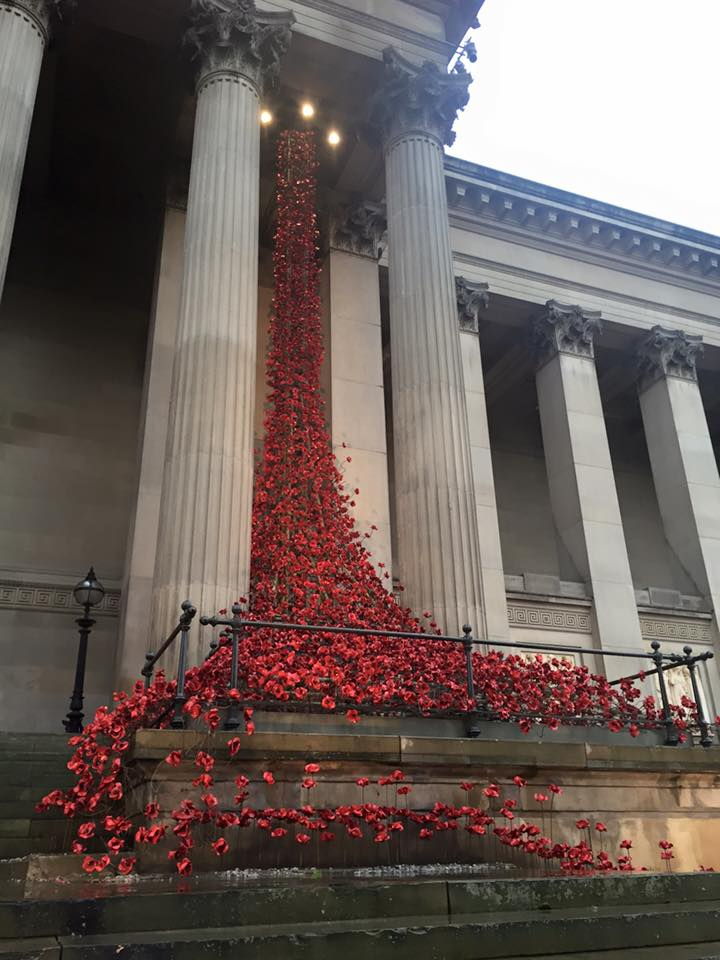 The Poppy exhibit in Liverpool